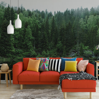 Selbstklebende Fototapete angepasst -  Grüner Wald