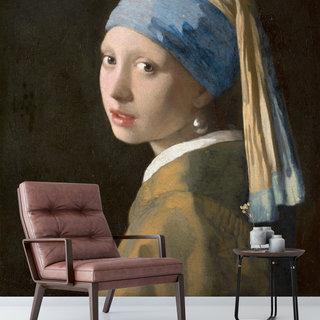 Selbstklebende Fototapete angepasst - Mädchen mit einem Perlenohrring, Johannes Vermeer