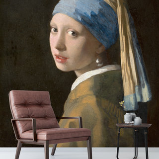 Self-adhesive photo wallpaper custom size - Girl with a pearl earring, Johannes Vermeer