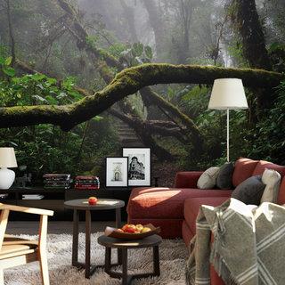 Selbstklebende Fototapete angepasst -  Regenwald