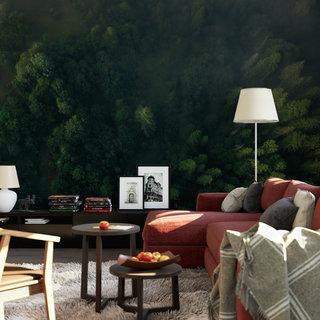 Selbstklebende Fototapete angepasst -  Wald von oben