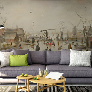 Self-adhesive photo wallpaper custom size - Ice entertainment by Hendrick Avercamp