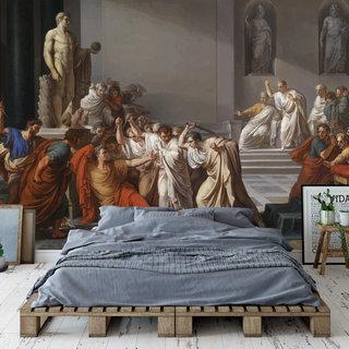 Selbstklebende Fototapete angepasst - Der Tod von Julius Caesar durch Vincenzo Camuccini