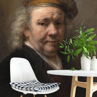 Selbstklebende Fototapete angepasst - Selbstporträt von Rembrandt van Rijn