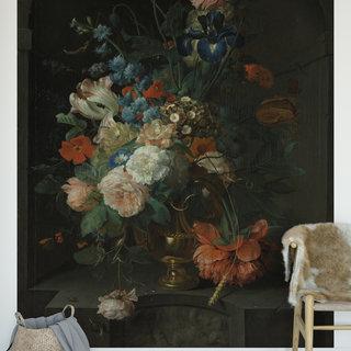 Selbstklebende Fototapete angepasst - Stillleben mit Blumen von van Coenraet Roepel