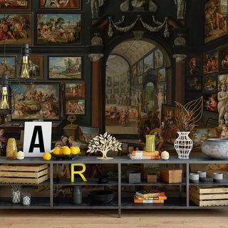 Zelfklevend fotobehang op maat - Apelles schildert Campaspe van Willem van Haestrecht