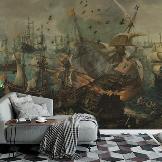 Self-adhesive photo wallpaper custom size - Battle of Gibraltar by Cornelis Claesz. van Wieringen