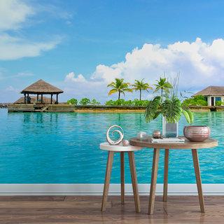 Selbstklebende Fototapete angepasst -  Malediven 1