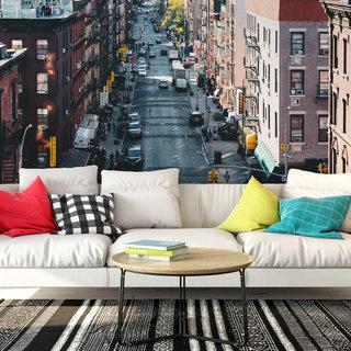 Zelfklevend fotobehang op maat - Chinatown Amerika
