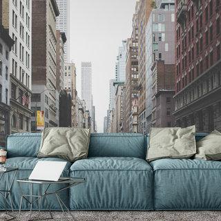 Selbstklebende Fototapete angepasst - Downtown America