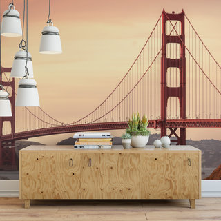 Self-adhesive photo wallpaper custom size - Golden Gate Bridge America