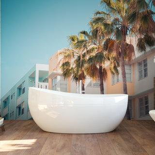 Selbstklebende Fototapete angepasst - Miami America