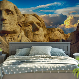 Self-adhesive photo wallpaper custom size - Mount Rushmore America