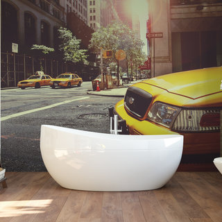 Self-adhesive photo wallpaper custom size - Taxi America 1