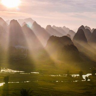 Selbstklebende Fototapete angepasst - Reisfelder 3