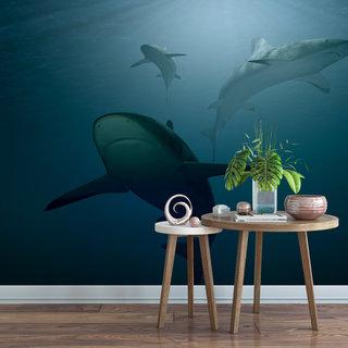 Selbstklebende Fototapete angepasst - Unterwasser 1