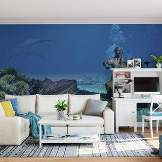 Zelfklevend fotobehang op maat - Onder water 2