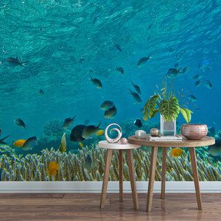 Zelfklevend fotobehang op maat - Onder water 8