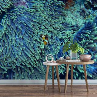 Zelfklevend fotobehang op maat - Onder water 10