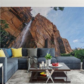 Selbstklebende Fototapete angepasst - Wasserfall 1
