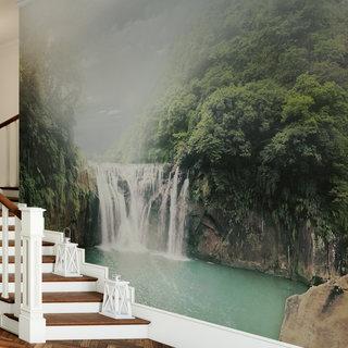 Selbstklebende Fototapete angepasst - Wasserfall 4