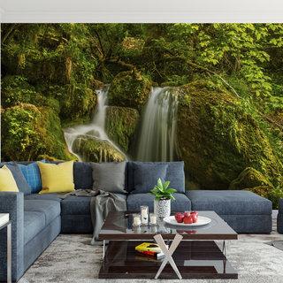 Selbstklebende Fototapete angepasst - Wasserfall 5