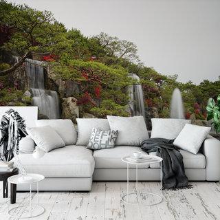 Selbstklebende Fototapete angepasst - Wasserfall 8