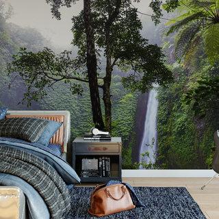 Selbstklebende Fototapete angepasst - Wasserfall 6