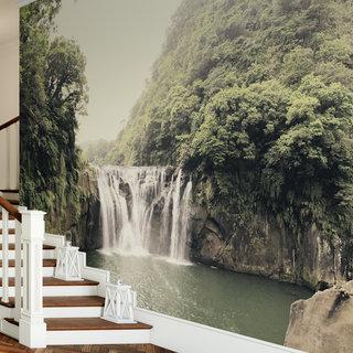 Selbstklebende Fototapete angepasst - Wasserfall 2