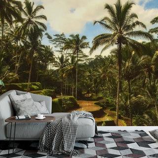 Selbstklebende Fototapete angepasst - Dschungel Bali