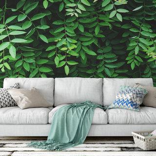 Zelfklevend fotobehang op maat - Groene bladeren 2