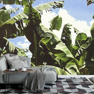 Zelfklevend fotobehang op maat - Groene bladeren 4