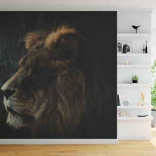 Selbstklebende Fototapete angepasst - Löwe in Farbe 2