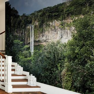 Selbstklebende Fototapete angepasst - Wasserfall 9