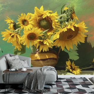 Selbstklebende Fototapete angepasst - Sonnenblume 2