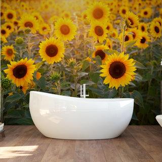 Selbstklebende Fototapete angepasst - Sonnenblume 3