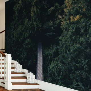 Zelfklevend fotobehang op maat - Loopbrug bos