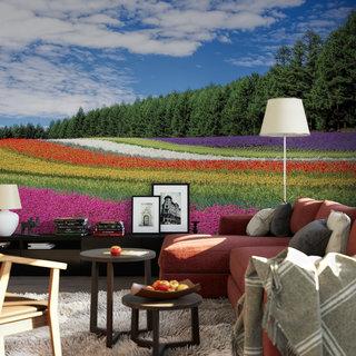 Zelfklevend fotobehang op maat - Bloemenveld