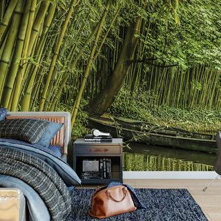 Zelfklevend fotobehang op maat - Bamboebos