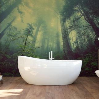 Selbstklebende Fototapete angepasst -  Unheilvoller Wald