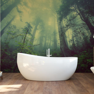 Self-adhesive photo wallpaper custom size - Ominous forest