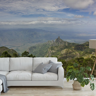 Selbstklebende Fototapete angepasst - Blick vom Berg