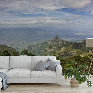 Zelfklevend fotobehang op maat - Uitzicht vanaf de berg