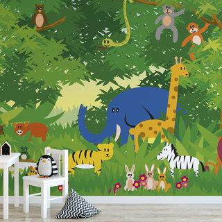 Zelfklevend fotobehang op maat - Kinder jungle 1