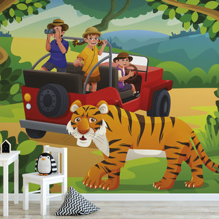 Self-adhesive photo wallpaper custom size - Children's jungle 4
