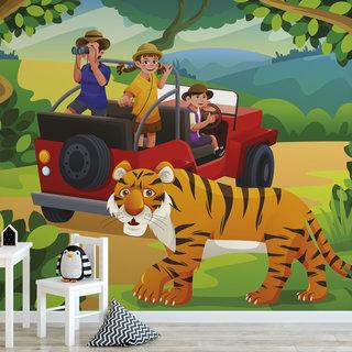 Zelfklevend fotobehang op maat - Kinder jungle 4