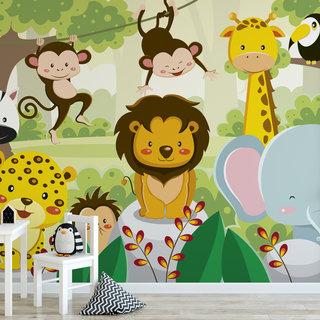 Zelfklevend fotobehang op maat - Kinder jungle 6