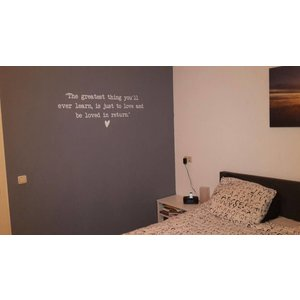 Wall Sticker The greatest thing you'll ever learn