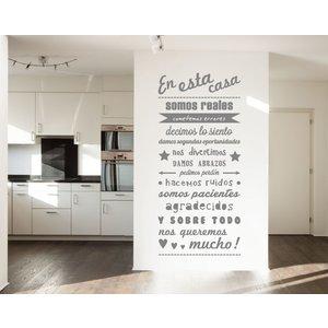 Wand-Aufkleber en esta casa - 2