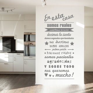 Muursticker - En esta casa - 2